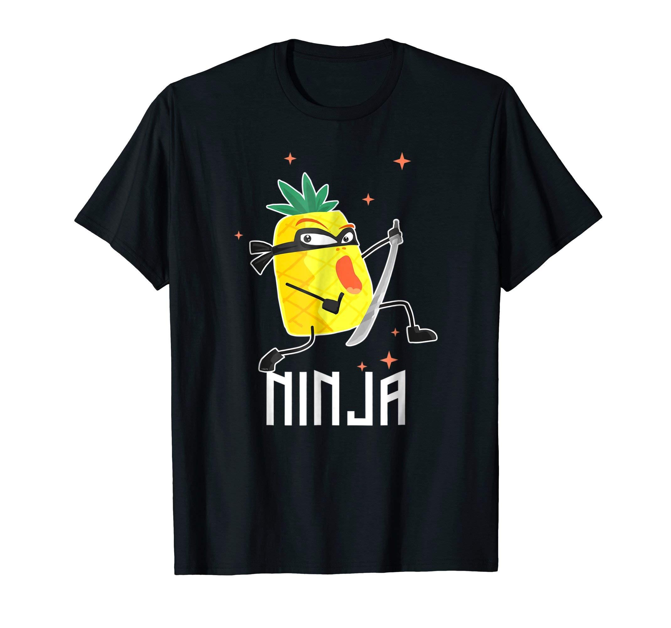 Pineapple-Ninja-Warrior-T-Shirt-Tee-Shirt-Gifts