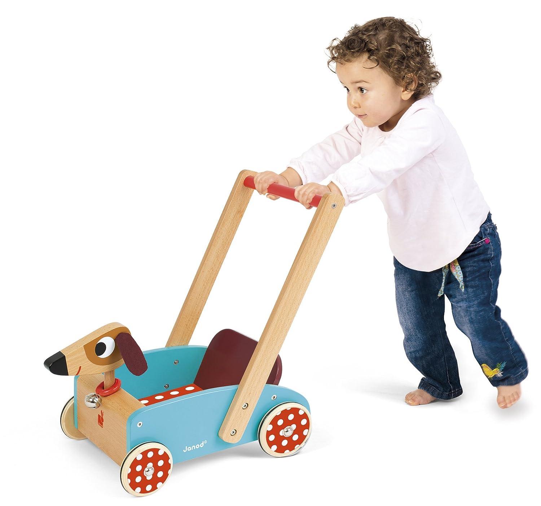 Janod - Crazy Doggy Andador Carrito de madera (J05995)