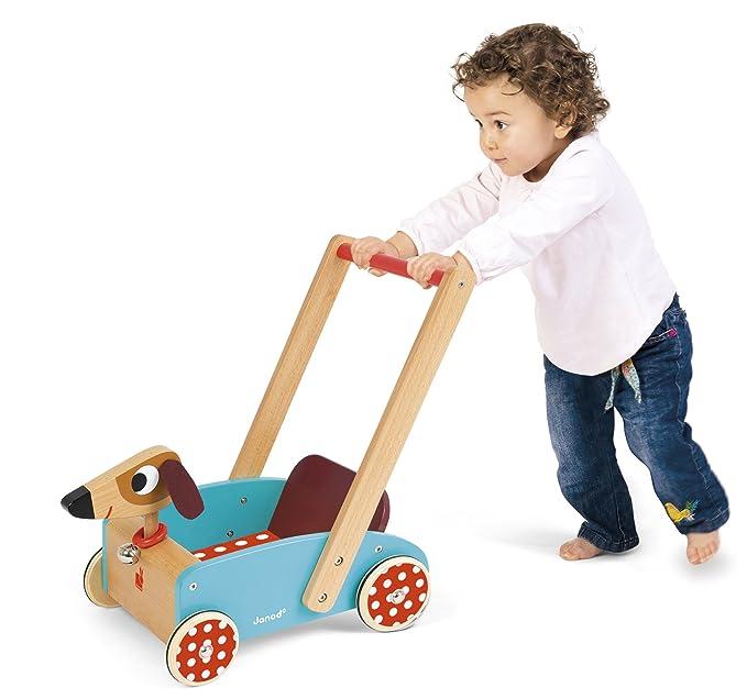 Janod - Crazy Doggy Andador Carrito de madera (J05995): Amazon.es ...