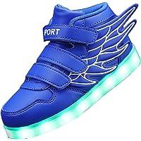 Gaorui Zapatillas Altas Colores LED Luminoso Luz Zapatos con ala Hip Hop Niños Niñas Unisexo Chicos Chicas