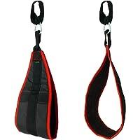 CampTeck U6833 Ab Straps Slings Armschlaufen für Bauchtraining gepolsterte hängende mit Karabiner für Bauchmuskeltraining, Bauchpresse, Beinheben, Fitness Gewichtheben Training - schwarz, 1 Paar