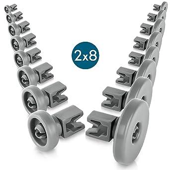 Juego de ruedas para lavavajillas [cesta inferior/cesta superior] - Ruedas universales para