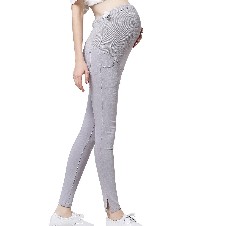 JOYNCLEON Maternity Work Casual Universal Trouser Over Bump Pregnancy Comfortable Slim Pants for Women