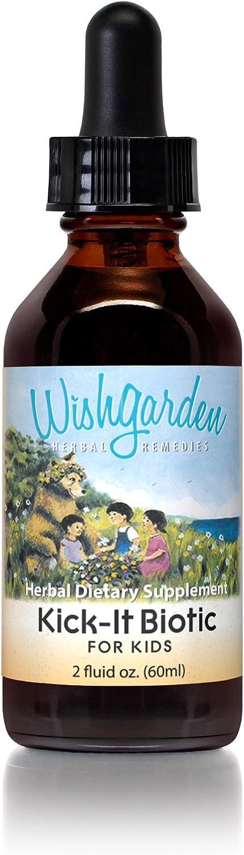 Wish Garden Herbs- Kick-It Biotic, Immune Support Herbal Supplement for Kids, 2 Ounce