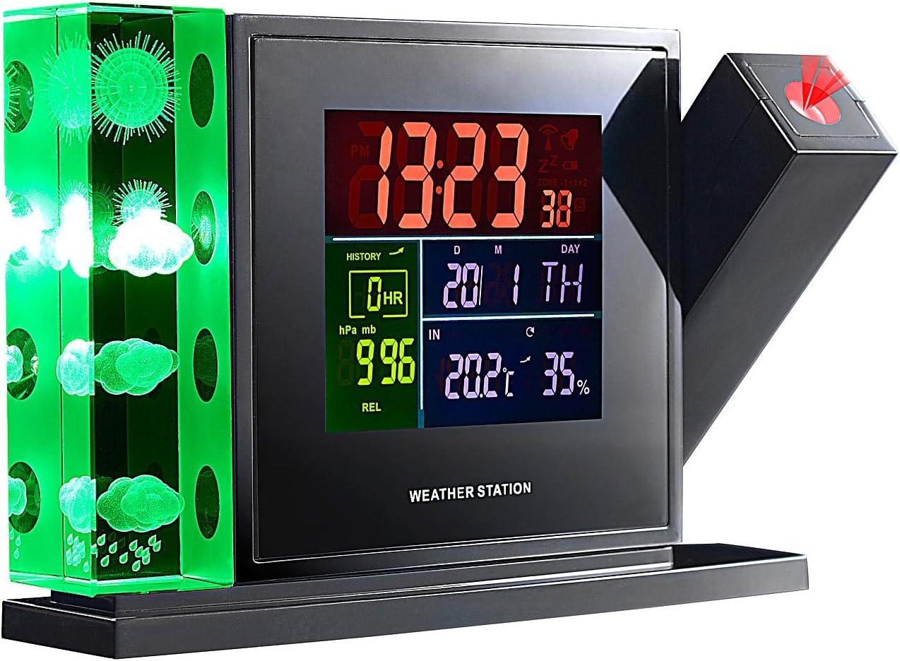 infactory - Estación meteorológica 3D (con holograma, proyector y ...