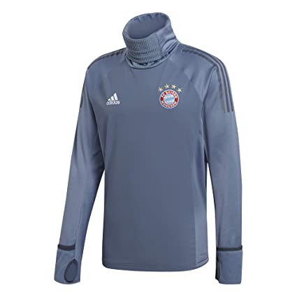 2428f459eb9b Amazon.com : adidas 2018-2019 Bayern Munich UCL Warm Up Top (Grey ...