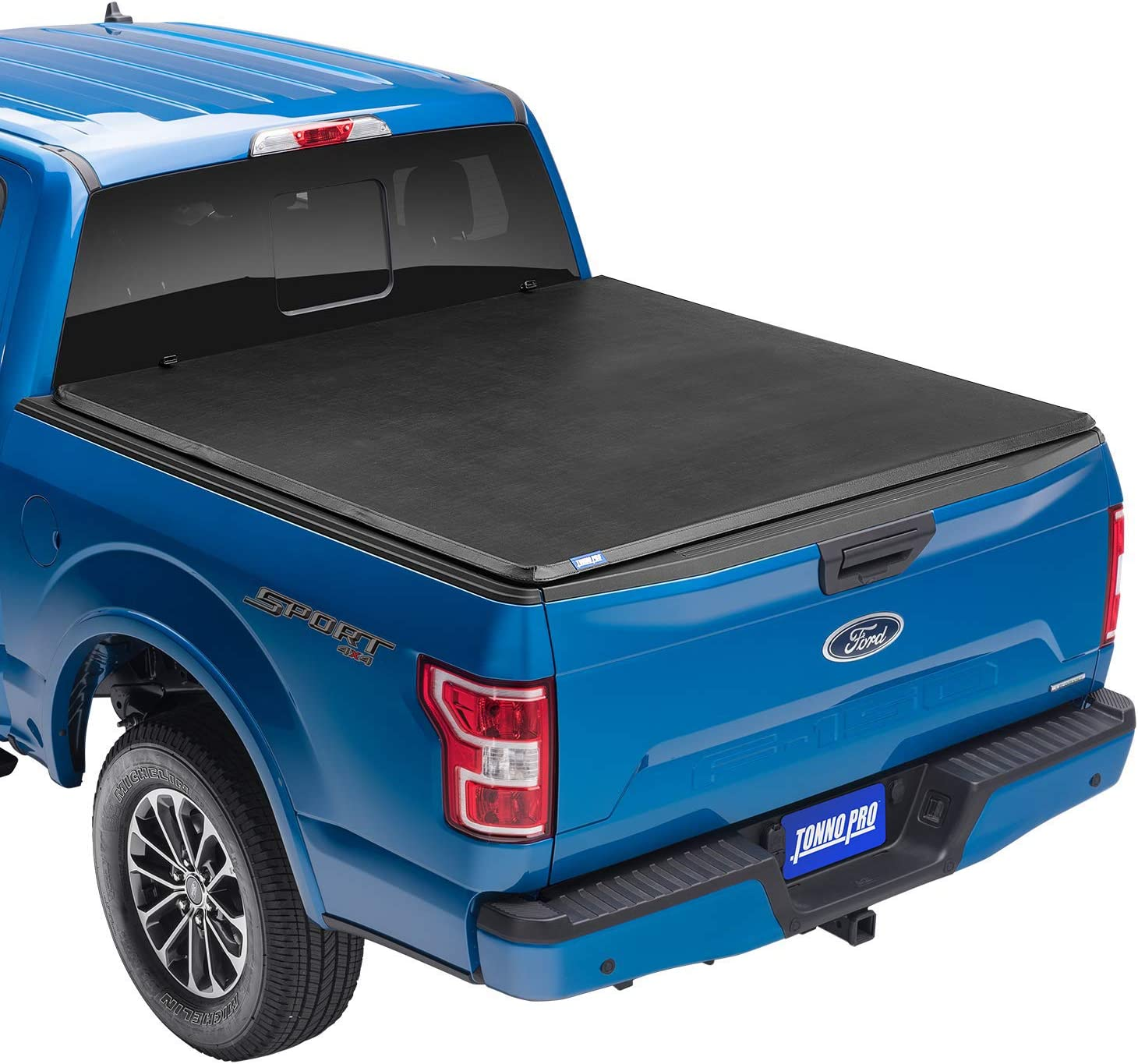 "Tonno Pro Tonno Fold, Soft Folding Truck Bed Tonneau Cover | 42-306 | Fits 2009 - 2014 Ford F-150 (does not fit track system) 6'5"" Bed"
