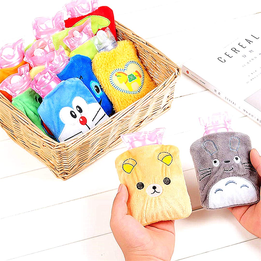 Beito 1 Packung Mini-Cartoon-W/ärmflaschen Kleinen Pl/üsch Warm-Wasser-Beutel Hot-Wasser-Beutel f/ür Kinder Farb Random