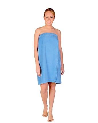 Arus - Toalla pareos para sauna - Mujer - Con cierre de velcro, 100% algodón orgánico certificado: Amazon.es: Ropa y accesorios
