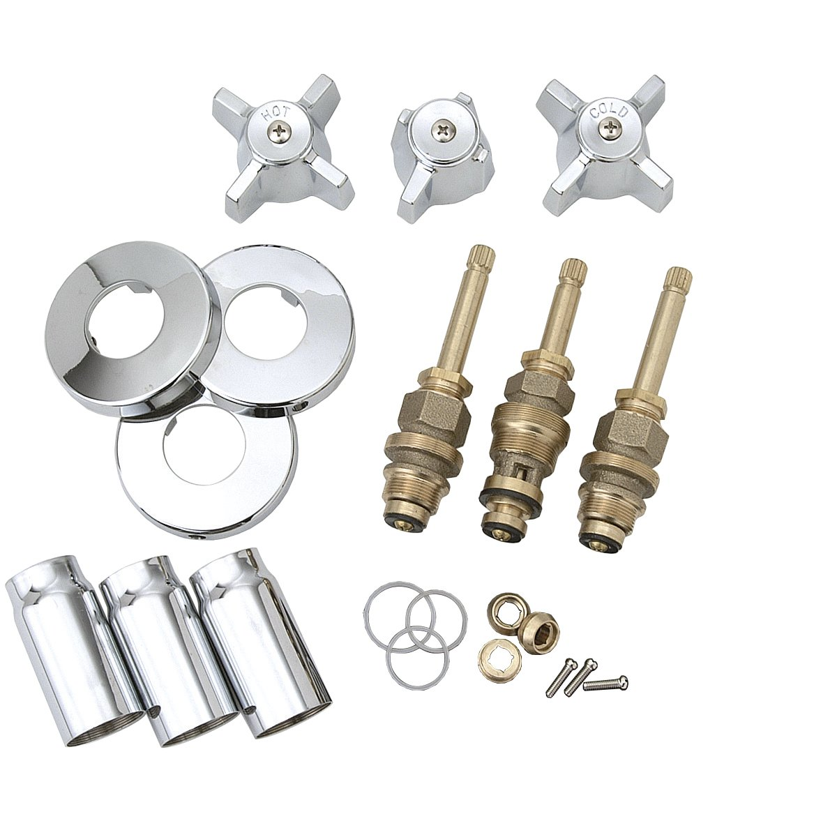 Amazon.com: BrassCraft SK0336 Tub and Shower Faucet Rebuild Kit for ...