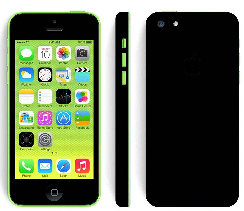 Gadgets Wrap Skin for Apple iPhone 5c Black Matte Skin: Amazon.in ...