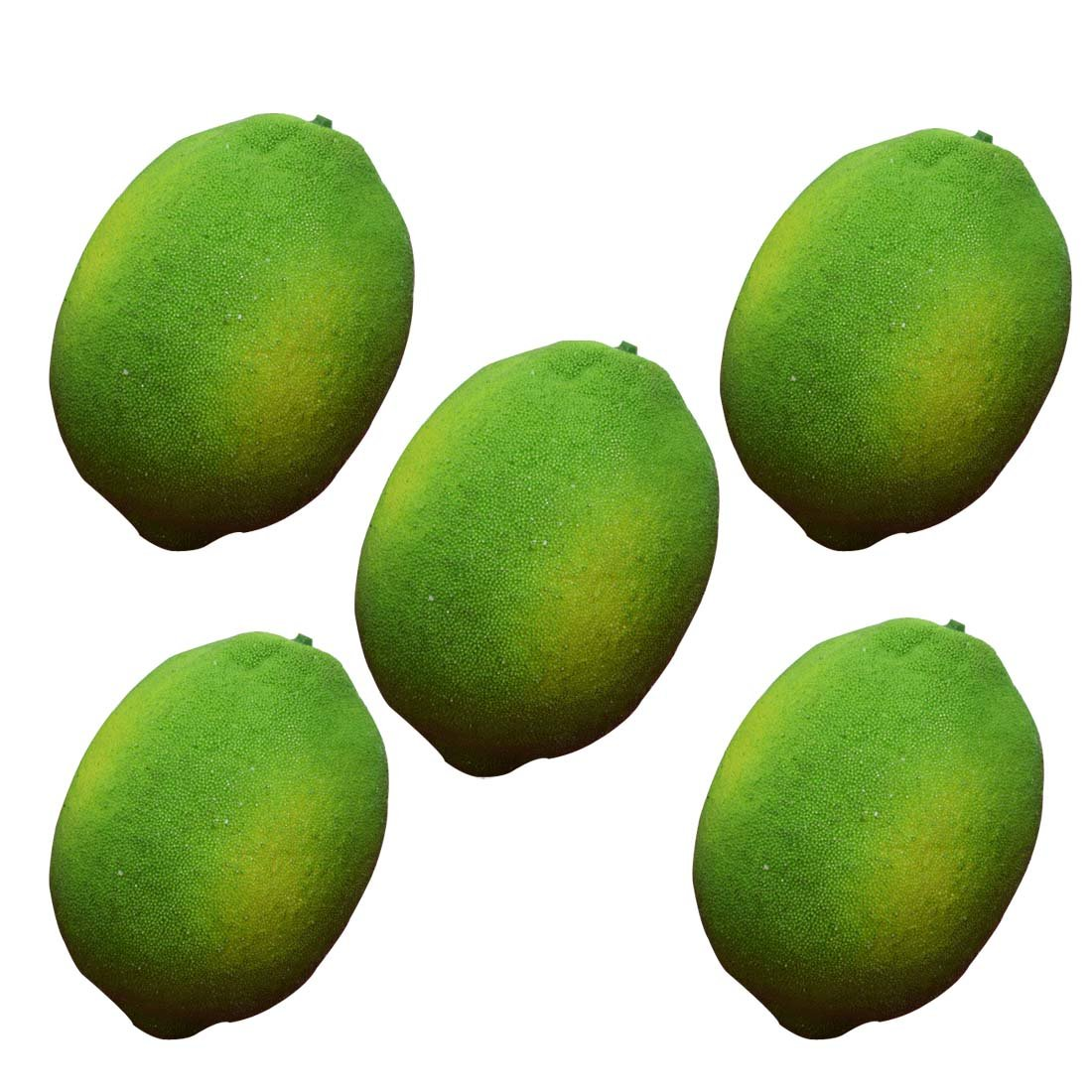 Artificial Limes Lifelike Fake Green Lemon Simulation Fruits For Home Kitchen Decoration 5pcs Lorigun