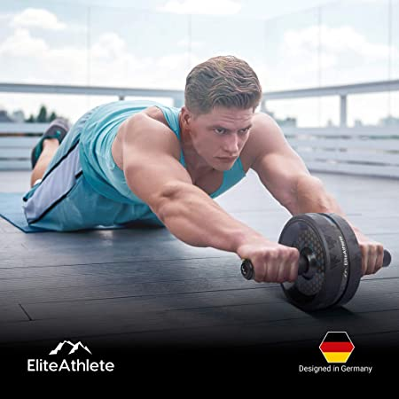 6 Fitness Kit Bauch Roller//Matte//Griff//Liegestütz//Seilspringen Gym Bauchtrainer