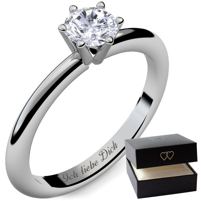 Lars Benz Luxus Damen Ring Verlobungsring Swarovski Zirkonia 1 4