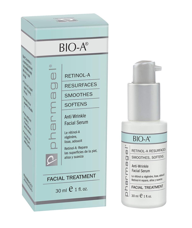 Pharmagel Bio-A Facial Serum | Retinol Serum | Anti Aging and Anti Wrinkle | Smoothes, Softens, & Brightens Skin | Acne Discoloration Treatment - 1 Fl Oz
