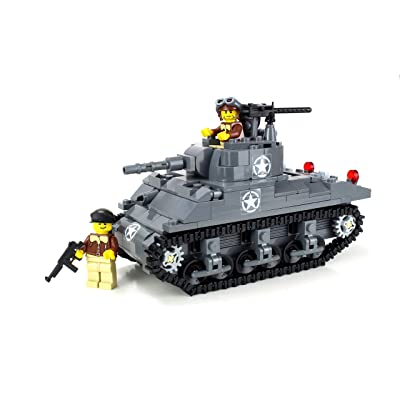 Battle Brick Deluxe M4 Sherman Tank World War 2 Hand Sorted Custom Set: Toys & Games