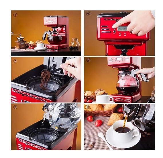 DPPAN Maquina de Cafe con Jarra térmica de 12 Tazas, Cafetera con Temporizador y Apagado automático,Red: Amazon.es: Hogar