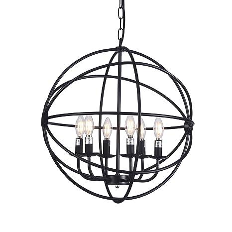 Wire Chandelier Frame   Raekor 20 Modern Round Sphere Black Iron Wire Frame Hanging