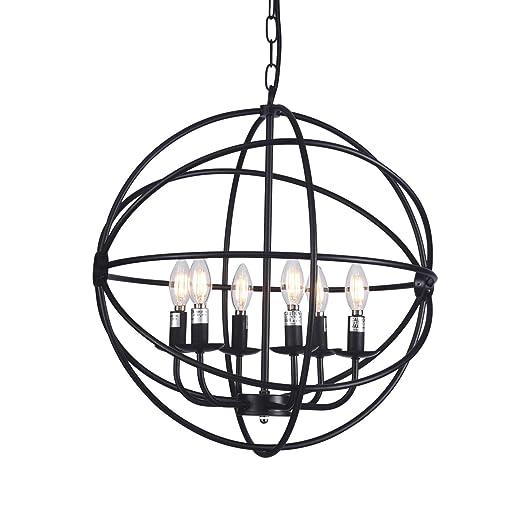 Amazon.com: Raekor - Lámpara de techo con marco de alambre ...