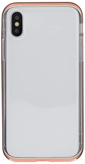 cd19260954 motomo iPhone XS/X ケース INFINITY CLEAR CASE ローズゴールド(モトモ インフィニティ クリアケース