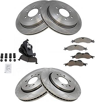 Full Kit Replacement Brake Rotors Disc and Ceramic Pads Expedition,Navigator