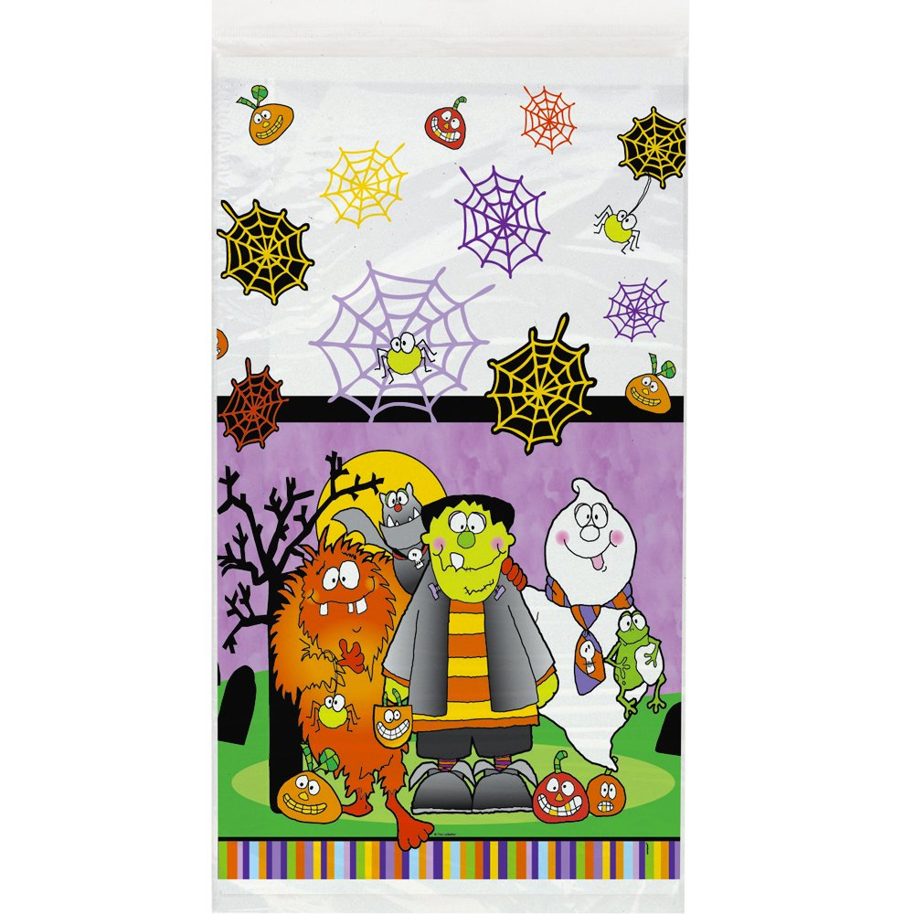 Little Monsters Halloween Plastic Tablecloth 54'' x 84''