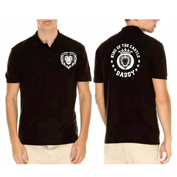 Giftsmate Birthday Gifts For Father Daddy King Of The Castle Mens Polo Cotton T Shirt Dad Amazonin Clothing Accessories