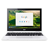 Acer Chromebook R 11 CB5-132T-C4LB 29,5 cm (11,6 Zoll HD IPS 360°) Convertible Notebook (Intel Celeron N3160, 4GB RAM, 32GB eMMC, Intel HD Graphics, Google Chrome OS) weiß
