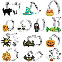 GWHOLE 13 piezas Moldes Galletas Halloween Cortadores Halloween de Galletas de Acero Inoxidable para Chuches Galletas…