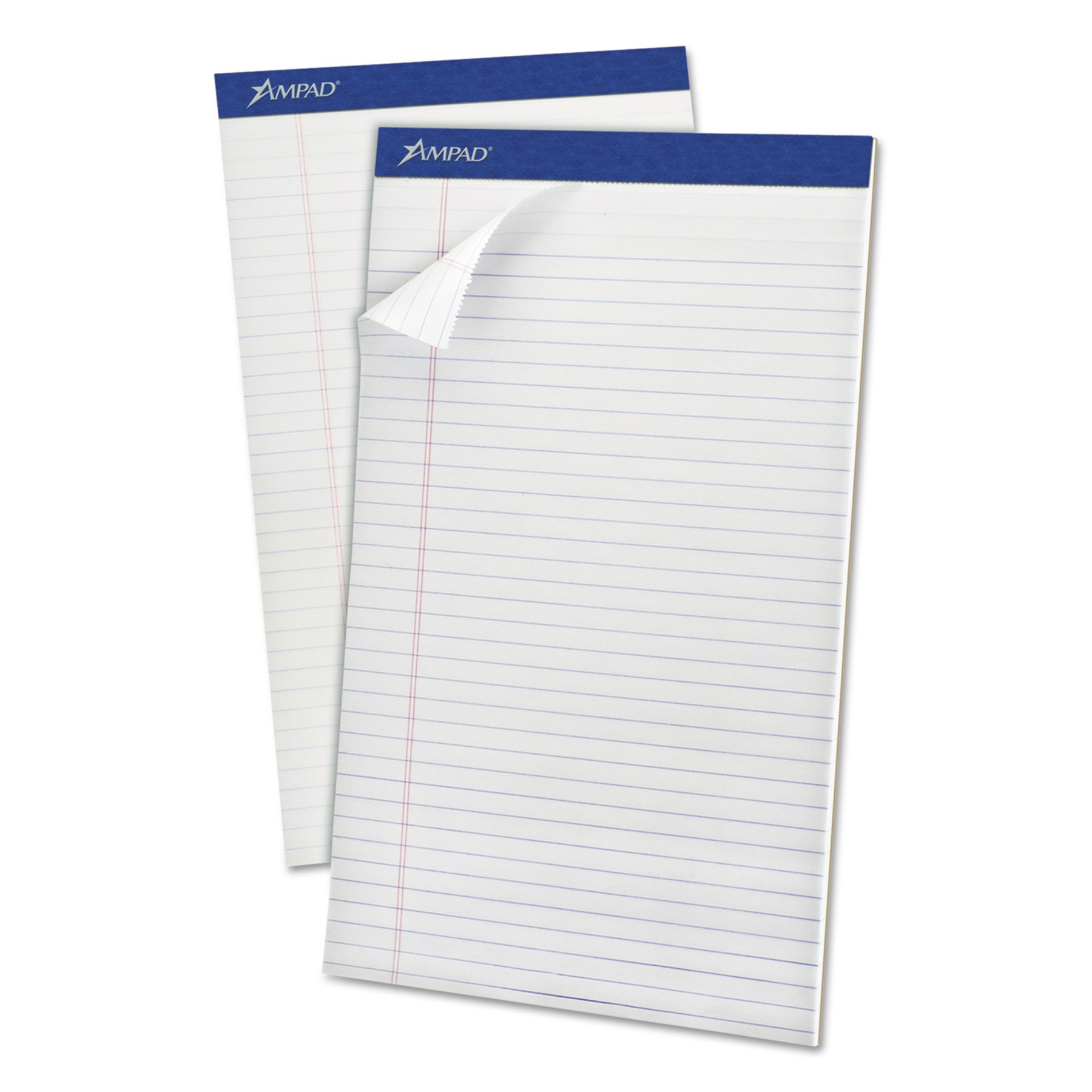Ampad 20330 Perforated Writing Pad, 8 1/2 x 14, White, 50 Sheets (Pack of 12)