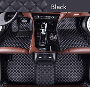 Custom Car Floor Mats for Land Rover Range-Rover-Sport 2010-2013 Full Surrounded Waterproof Anti-Slip All Weather Protection Leather Material Car mat Carpet Liners Black