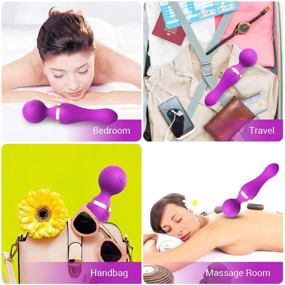 Personal Massager Handheld for Women Mini Wand Massager with 9 Powerful Speed Electric Body Massage Wand /& Deep Tissue Massage Ball for Back Neck Shoulder Legs