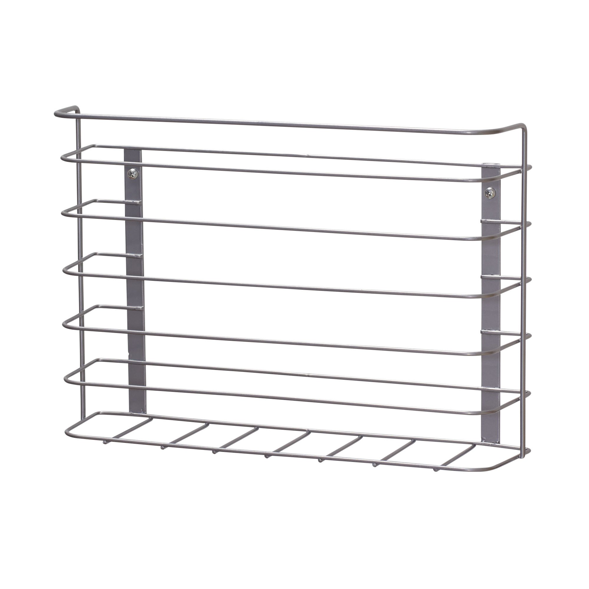Household Essentials 1229-1 Tall Basket Door Mount Cabinet Organizer | Mounts to Solid Cabinet Doors or Walls by Household Essentials
