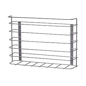 Household Essentials 1229-1 Tall Basket Door Mount Cabinet Organizer | Mounts to Solid Cabinet Doors or Walls