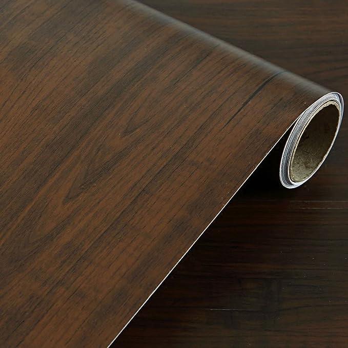 Resistente al agua sintética madera vinilo autoadhesivo Papel de ...