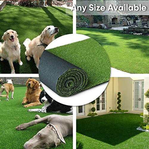 Petgrow Artificial Synthetic Grass Turf 10FTX60FT 600Square FT ,0.8 Pile Height Indoor Outdoor Pet Dog Artificial Grass Mat Rug Carpet for Garden Backyard Balcony