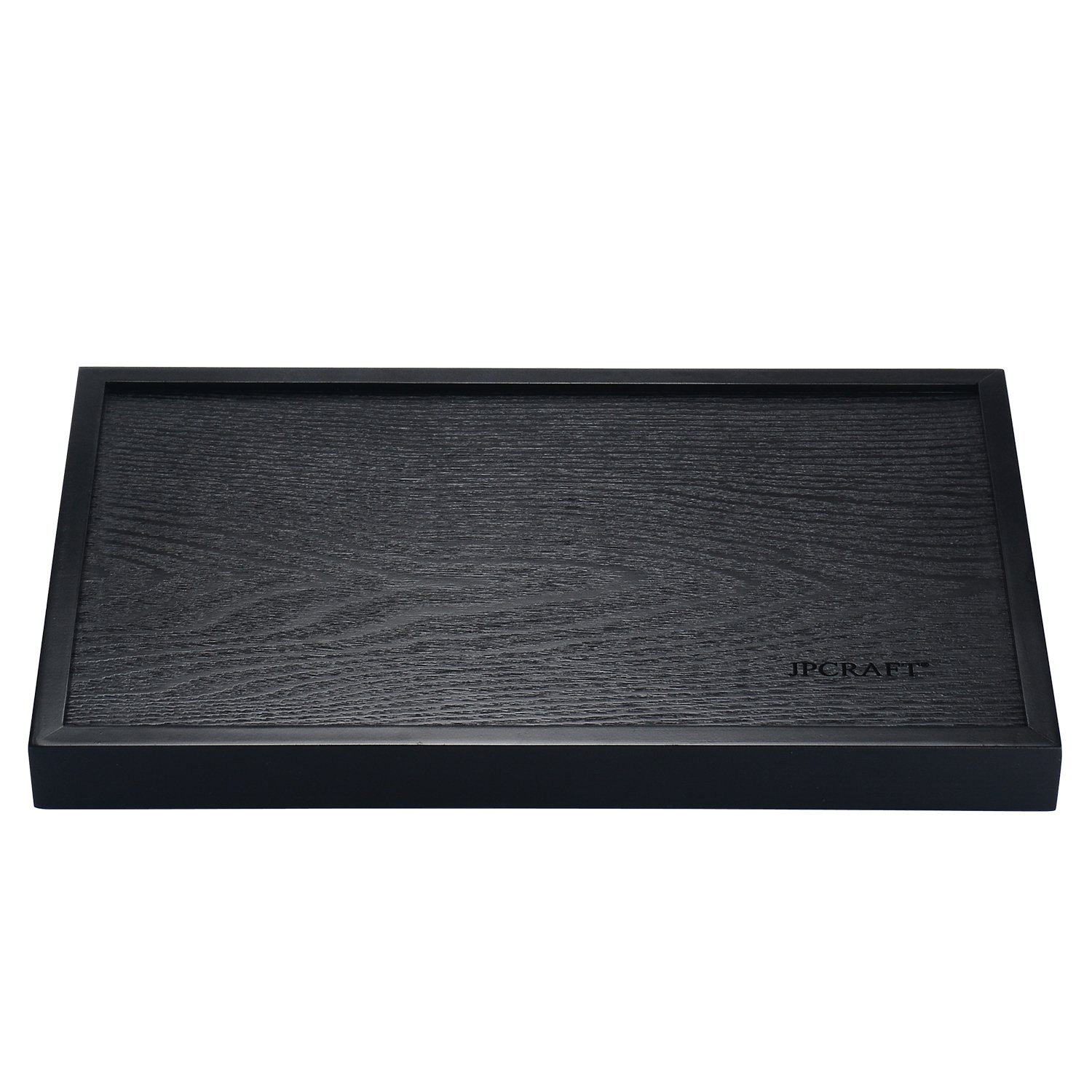 JPCRAFT Rectangle Wooden Serving Tray, Black, 14 by 9-Inch by JPCRAFT (Image #5)