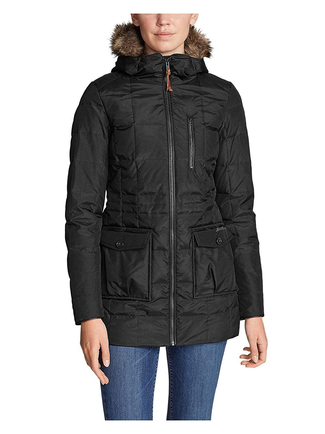 Eddie Bauer Women's Yukon Classic Down Parka Black Regular S 0065074100000040