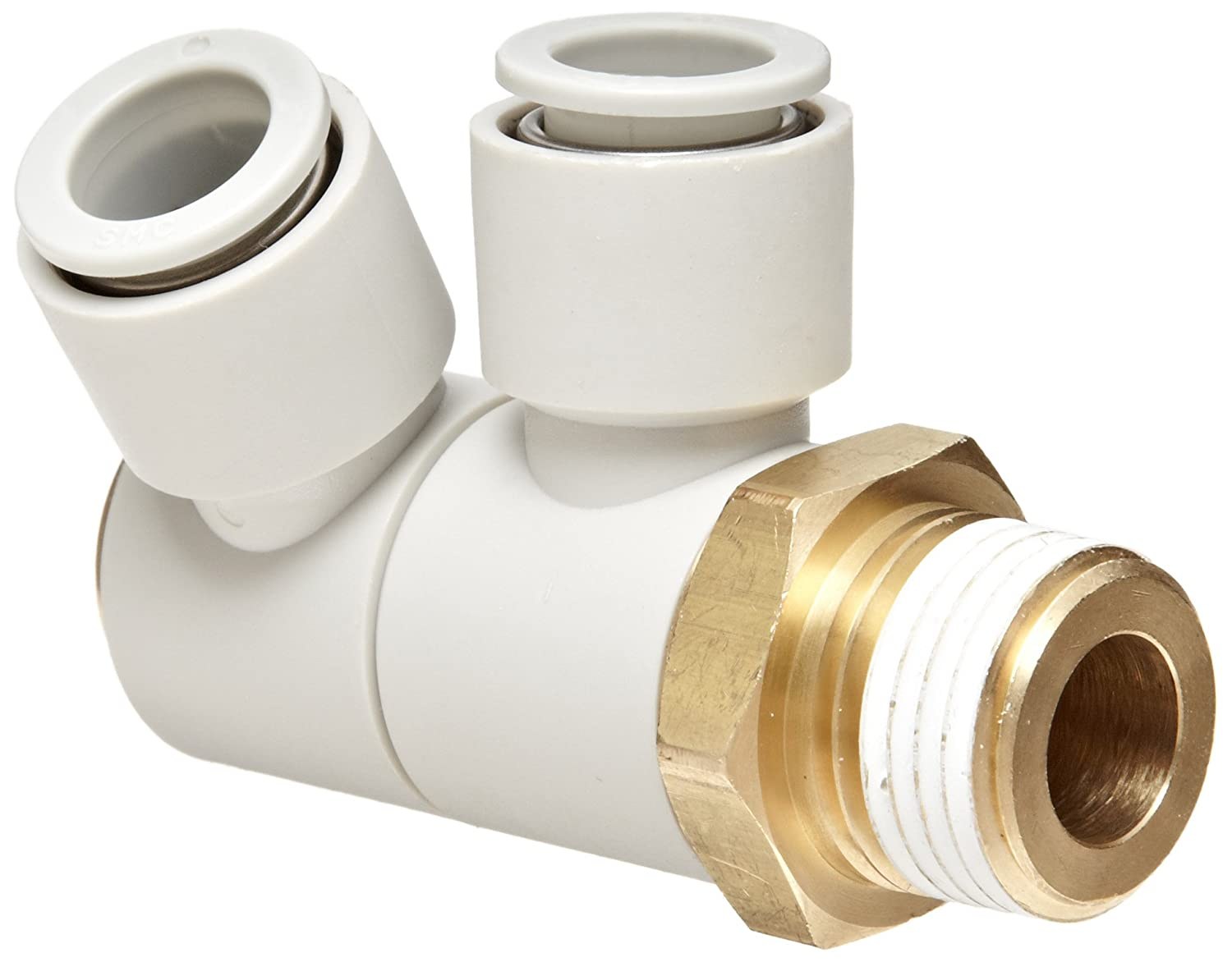 USA Sealing Push to Connect Tube Fitting Male Branch Tee Polybutylene Plastic 12mm Tube OD x 3//8 NPT Male