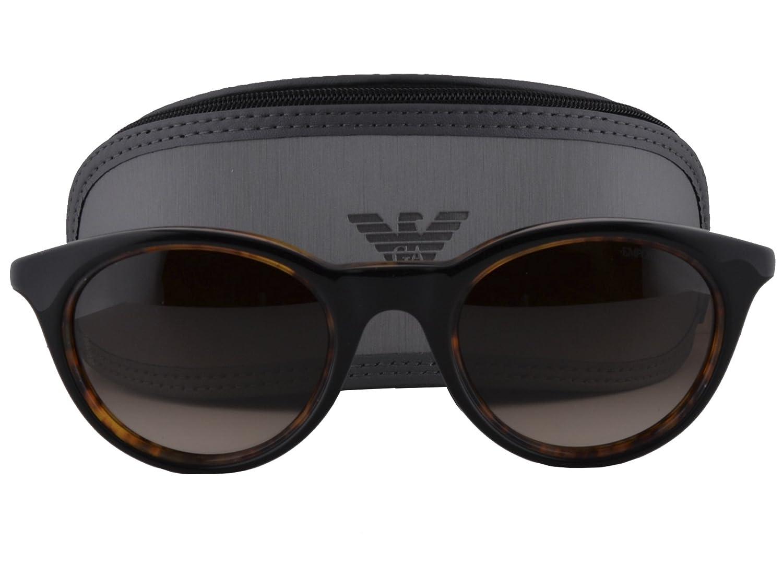 7f468b5c7cf3c Amazon.com  Emporio Armani EA 4061 Sunglasses Black On Havana w Brown  Gradient Lens 5049 13 EA4061  Clothing