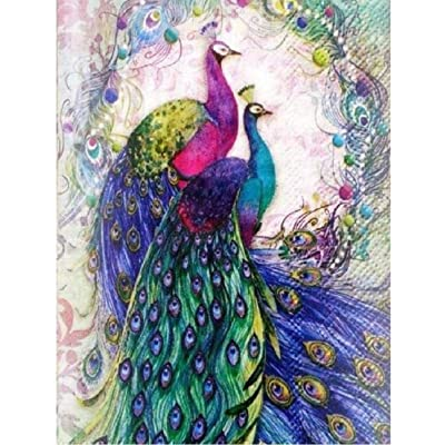 FENGPT Jigsaw Puzzle 1000 Pieces Adult Puzzle Wooden Jigsaw Educational Game for Two Beautiful Peacock Patterns for Teens and Adults: Toys & Games