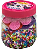 Hama - 2051 - Loisirs Créatifs - Pot 4000 Perles à Repasser + 3 Plaques - Taille Midi