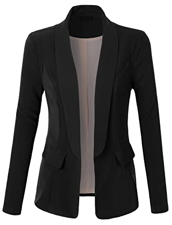 RubyK Womens One Button Tailored Boyfriend Blazer Jacket with ...