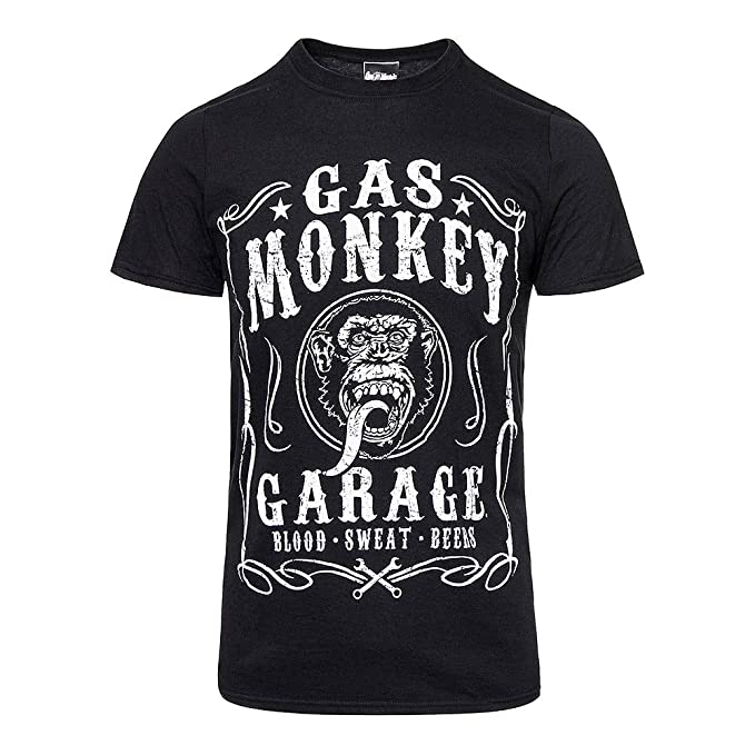 Gas Monkey Garage - Camiseta - para Hombre Negro Negro Small ...