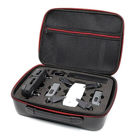 Beyondsky Spark Drone Carbon Fiber PU Carrying Case Bag Hangpack Box Battery Storage Suitcase For DJI