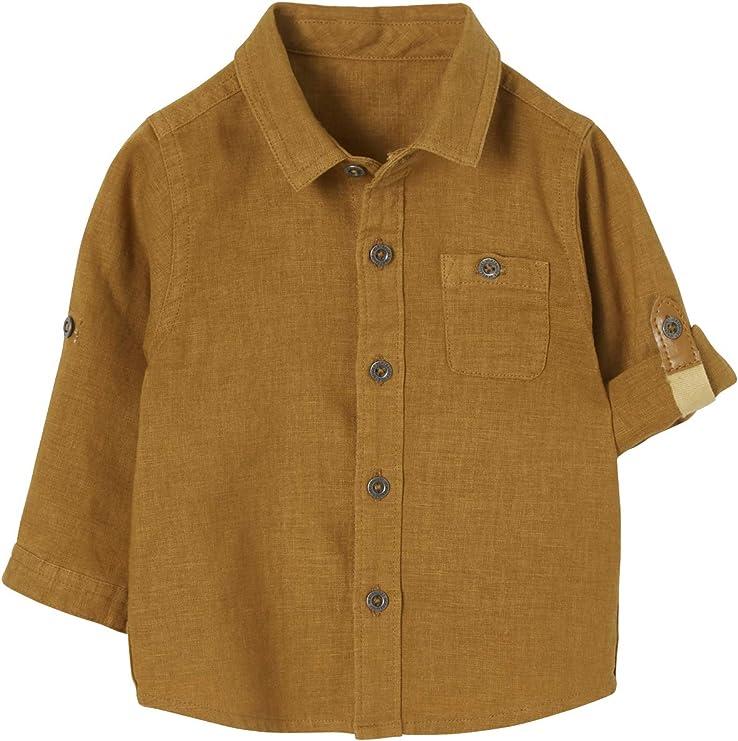 Vertbaudet Baby Jungen Hemd, Ärmel zum Krempeln