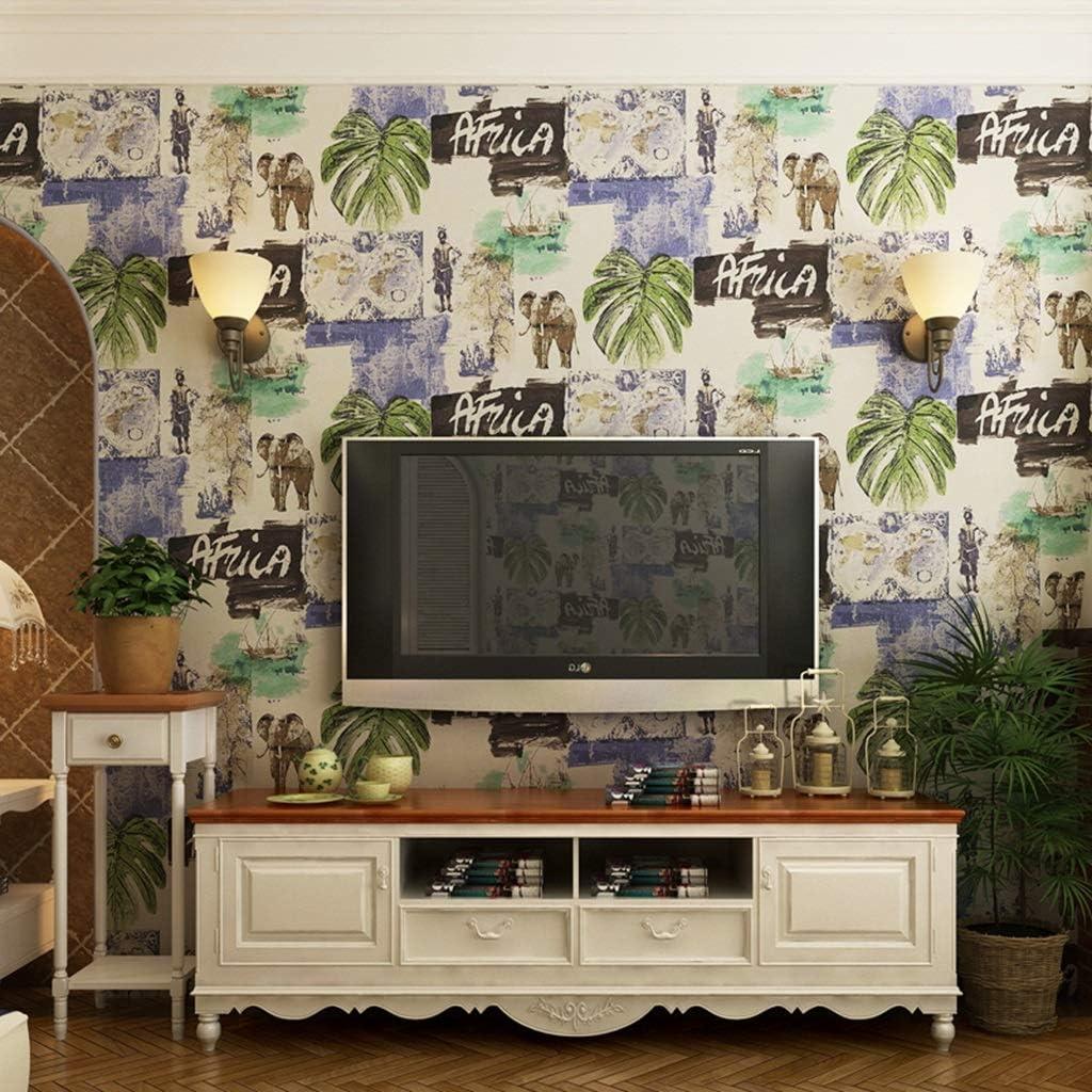 zyy Papel Pintado Elefante Hoja Banana Papel Puro Papel Pintado habitación Sala televisión Pared Fondo decoración 10m X 0.7m / Roll (Color : Amarillo): Amazon.es: Hogar