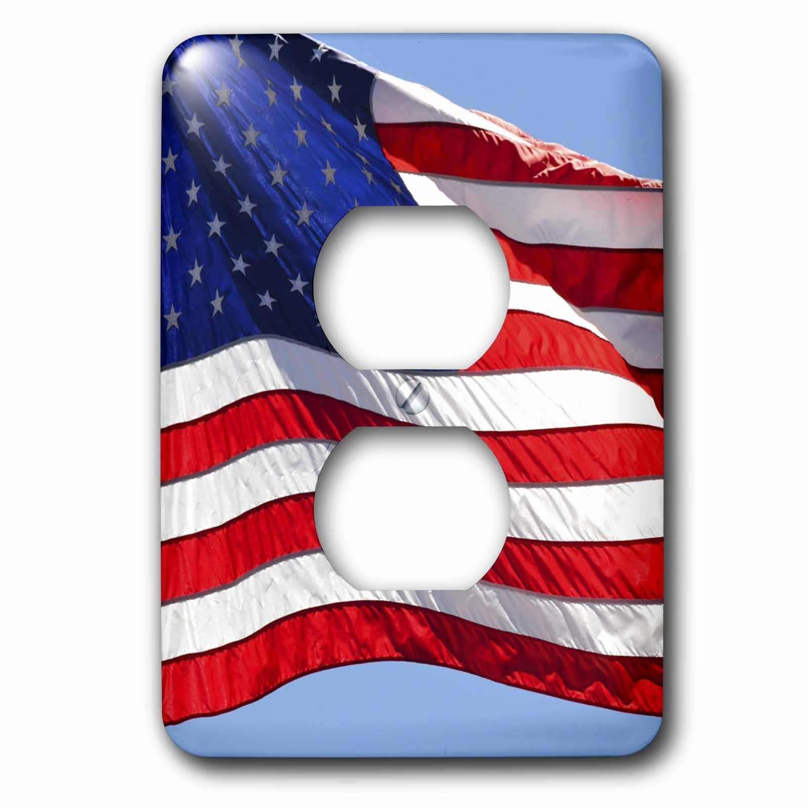 3dRose lsp_53611_6 American Flag Usa Patriotic Americana Light Switch Cover