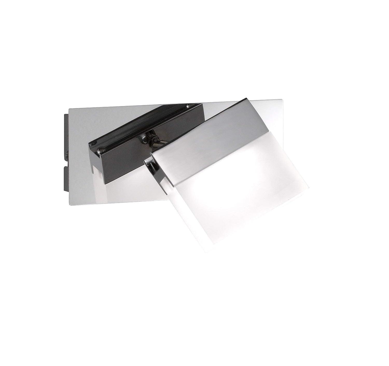 WOFI lampada da parete per Spa Line, a 1luce serie Sonett–colore 1x LED/4W, 10x 9, 5x 15cm, 3000K, 320lm, classe di consumo energetico A + lampada da bagno tipo di protezione, IP23, superficie cromata 4501.01.01.0044 [Classe di efficienza energet