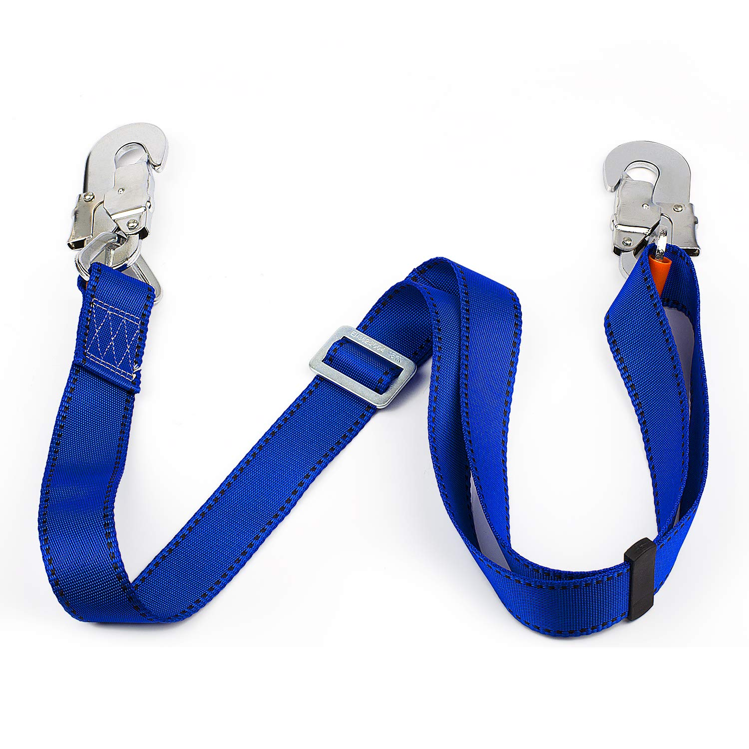 JINGYAT Safety Lanyard Adjustable Non-Shock Absorbing Lanyard from 4-Feet to 6-Feet, Outdoor Climbing Harness Belt Lanyard Fall Protection Rope with Large Snap Hooks by JINGYAT